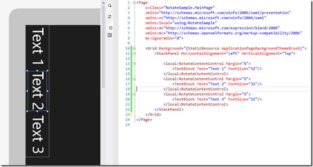 SharpGIS | Rotating Elements in XAML While Maintaining